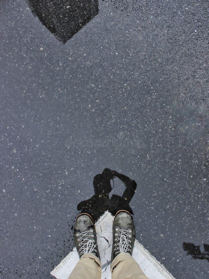 Quand il pleut photo stock