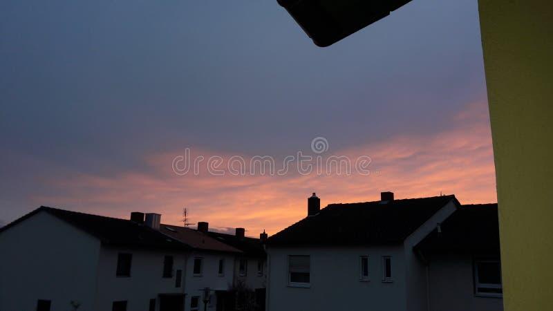Quand le soleil se couche photographie stock