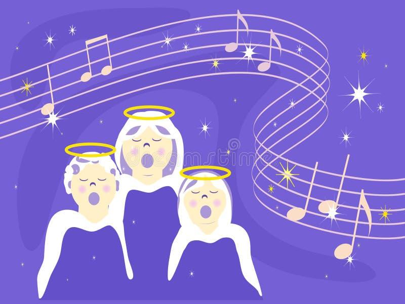 Quand les anges chantent illustration de vecteur