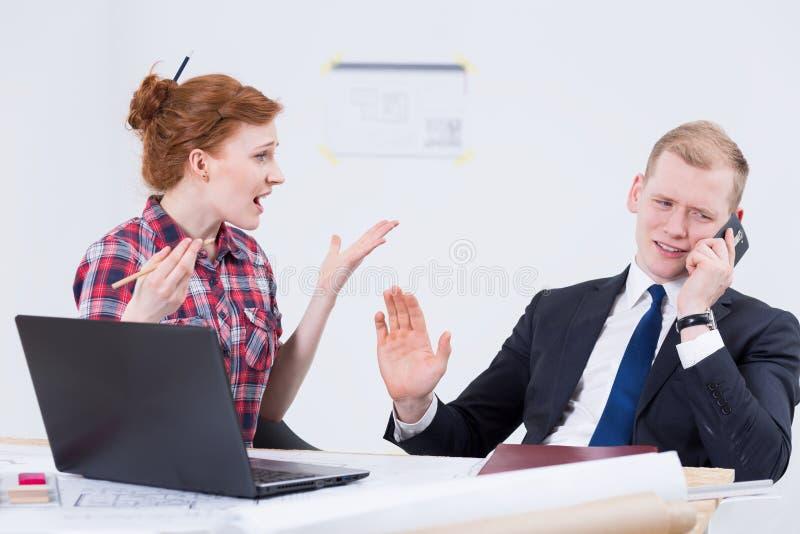 Quando l'investitore che nega i risultati più iniziali fotografia stock