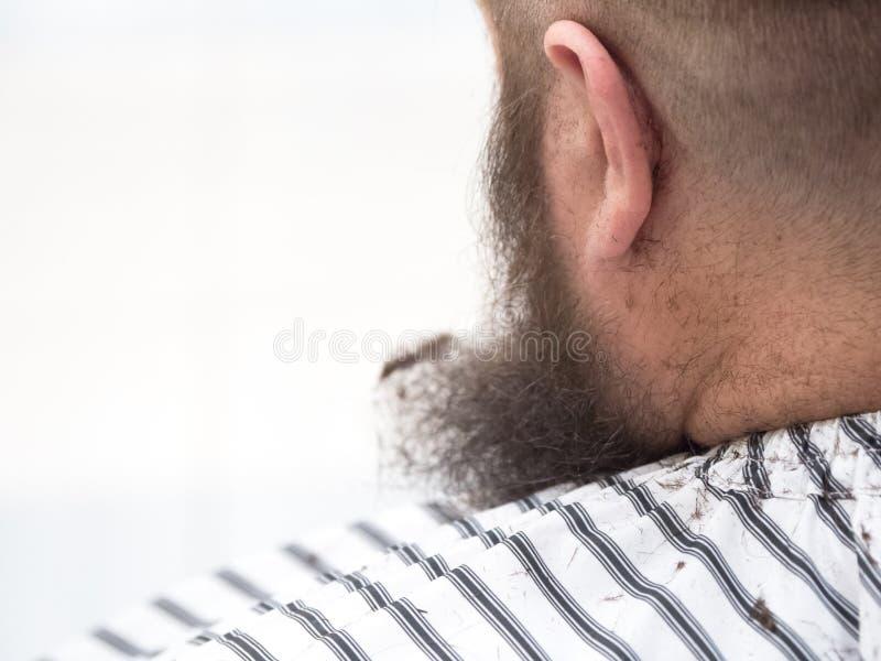 Quando o cabelo for cortado no ombro fotos de stock royalty free