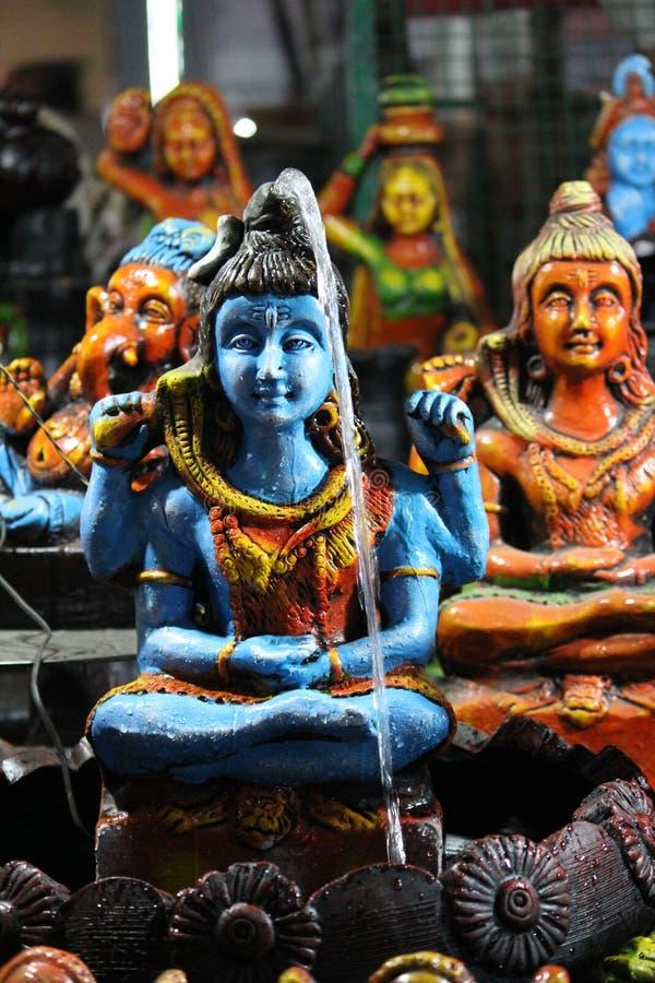 Quando Shiva bater suas agitações más de DAMRU-!! quando o sábio acordar imagens de stock