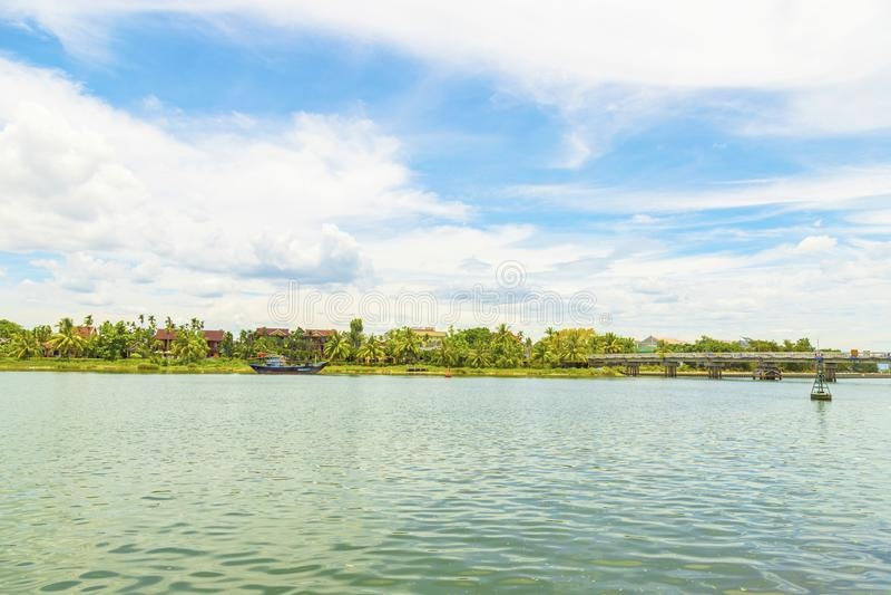 Quang Nam, Vietnam - 25. JUNI 2019: Ansicht von Hoi An UNESCO-geschützte alte Stadt von Hoi An, Touristen incresing zu Hoi An stockbild