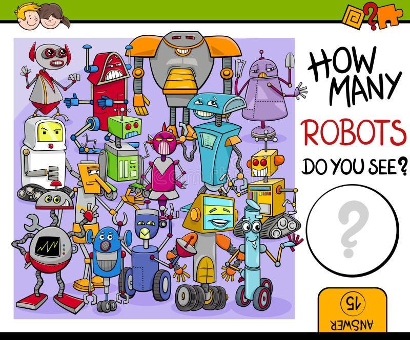 Quanti robot royalty illustrazione gratis