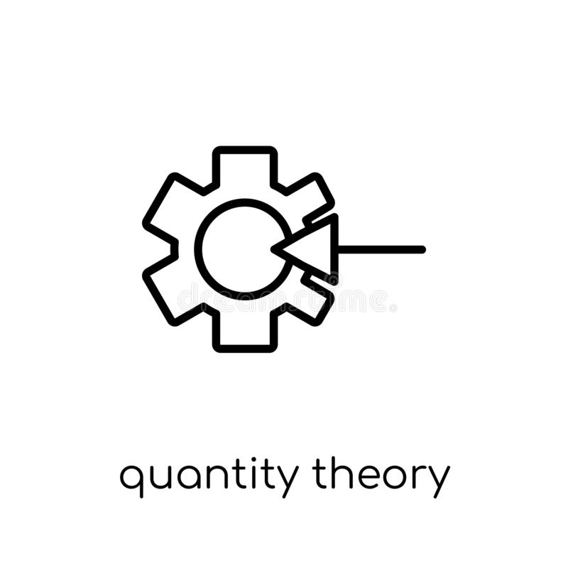 Quantity theory of money icon. Trendy modern flat linear vector vector illustration