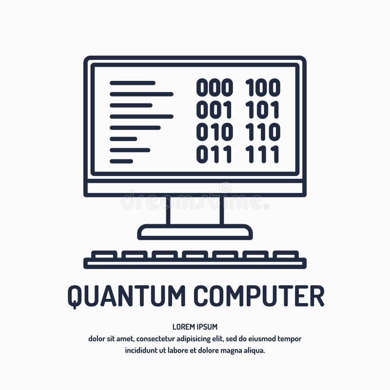 Quantum计算机、分析和数据传送 皇族释放例证