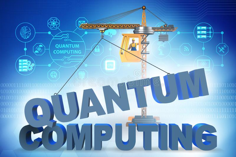 The quantum computing concept - 3d rendering. Quantum computing concept - 3d rendering royalty free stock photos