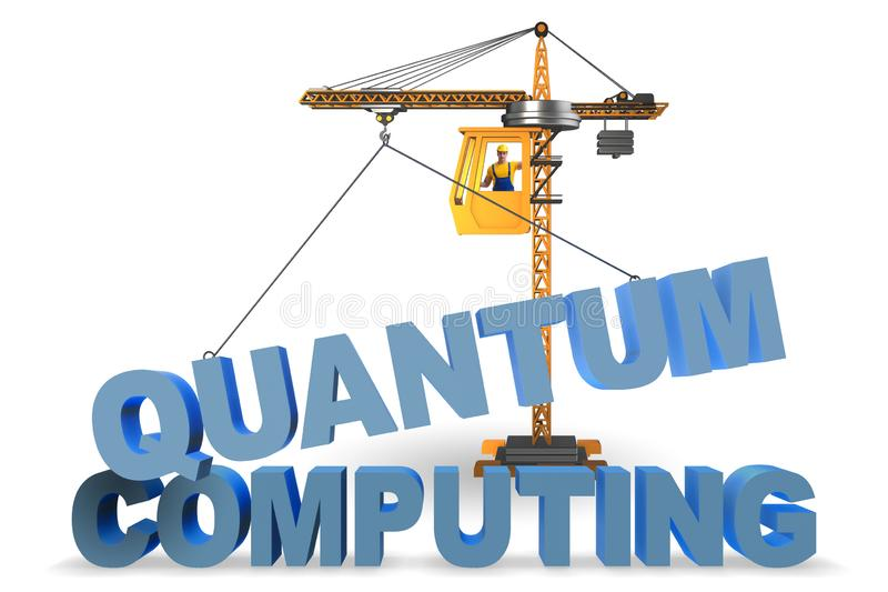 The quantum computing concept - 3d rendering. Quantum computing concept - 3d rendering stock photo