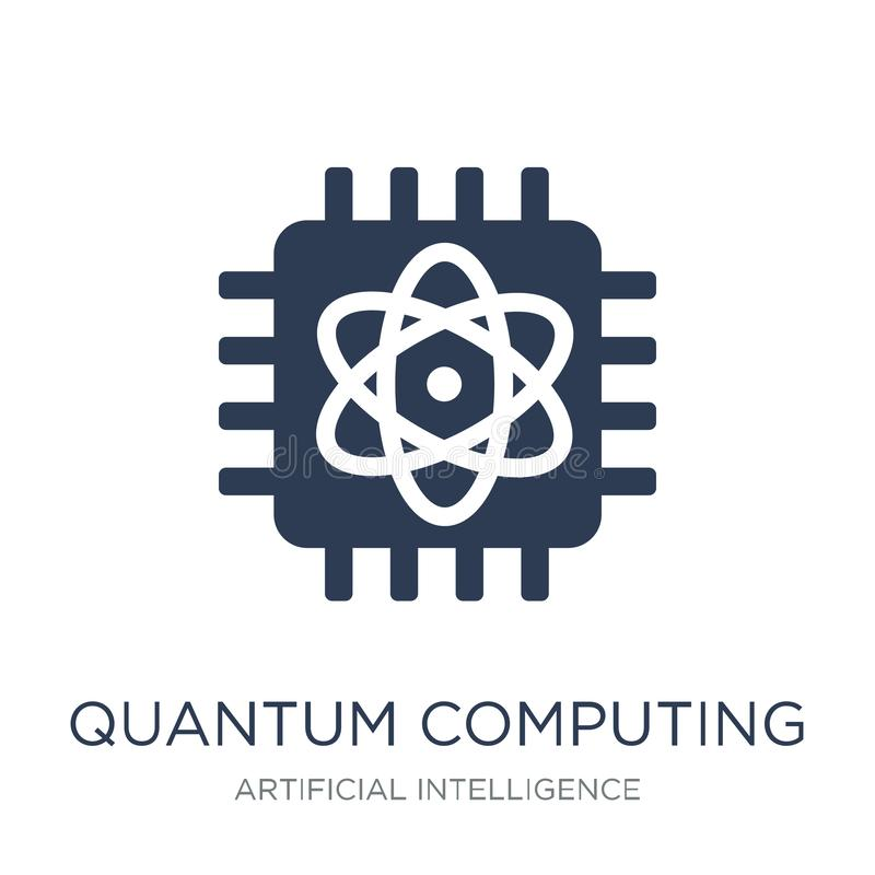 Quantum computing icon. Trendy flat vector Quantum computing ico royalty free illustration