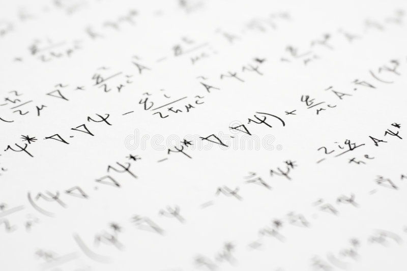Quantum Equations 2. A series of physics equations dealing with quantum mechanics stock photos