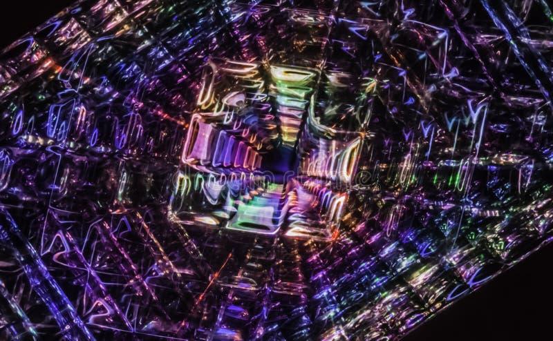 Quantum Zwart Gat die de Stof van Plaats-tijd vervormen stock illustratie