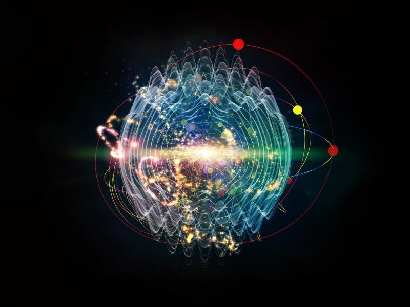 Quantumgolf royalty-vrije illustratie