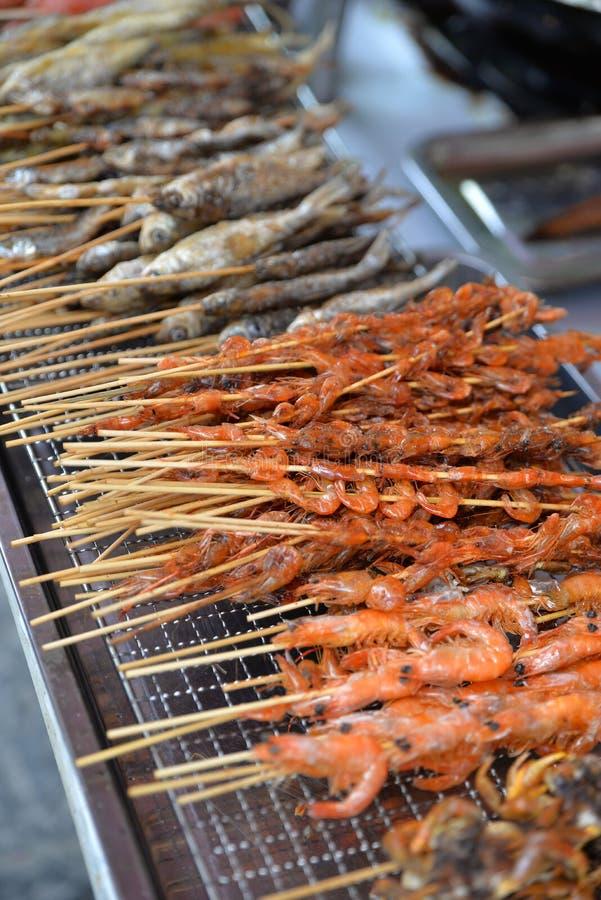 Quanzhou, China: Gegrillte Straßen-Nahrungsmittel stockbilder