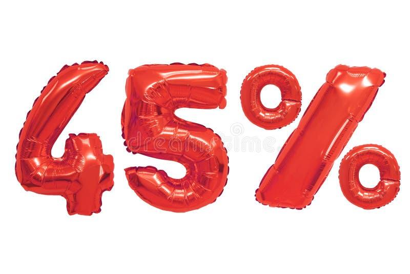Quarante-cinq pour cent de couleur rouge de ballons illustration libre de droits