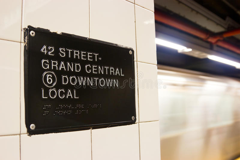 quarante-deuxième Rue Station de métro, New York photos stock