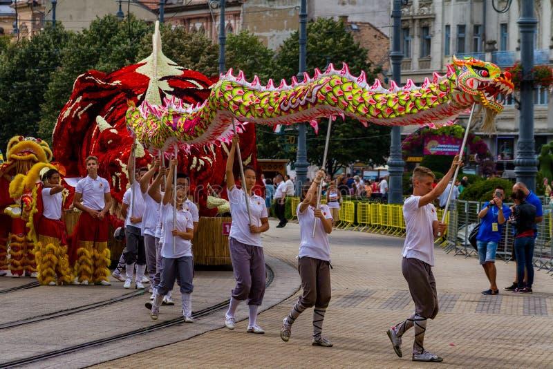 quarante-huitième carnaval de fleur à Debrecen, Hongrie photographie stock