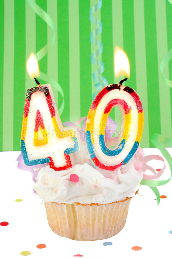 quarantième anniversaire images stock