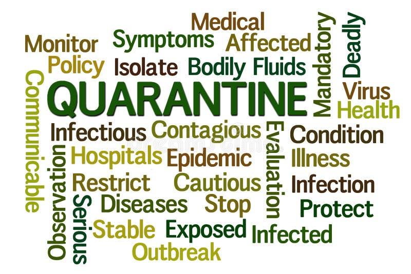 quarantine ilustração do vetor
