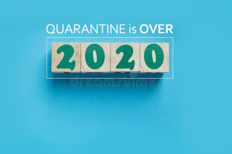 Quarantine of 2020 is over after coronavirus pandemic in the world stock photos