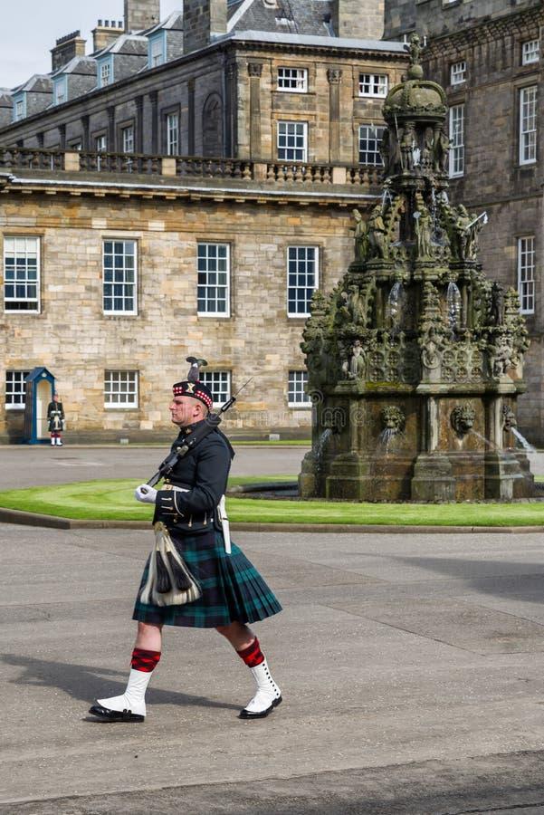 Quard da honra em Edimburgo fotografia de stock