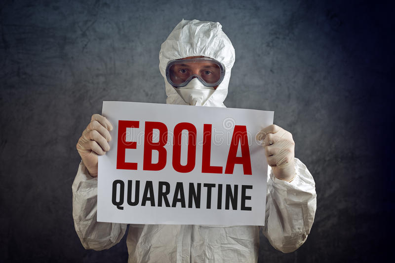 Quarentena de Ebola foto de stock royalty free