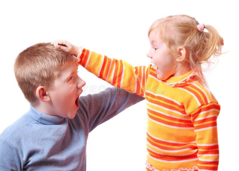 Quarrel stock images