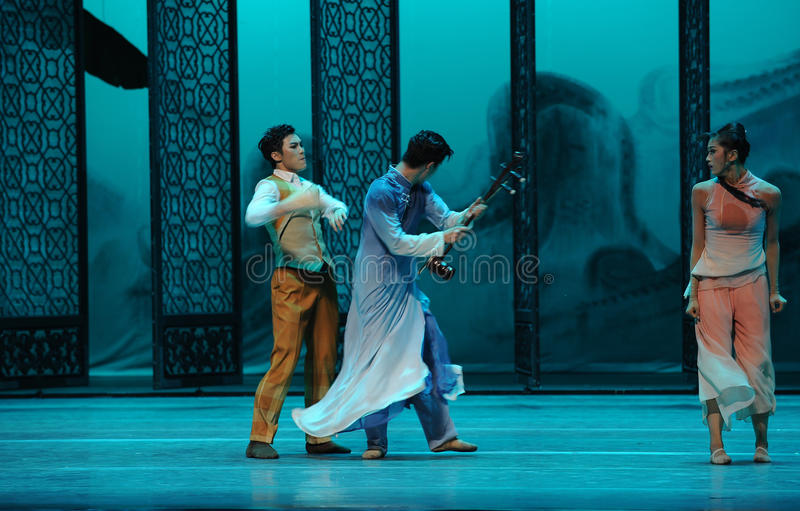Quarrel between brothers-The second act of dance drama-Shawan events of the past. Guangdong Shawan Town is the hometown of ballet music, the past focuses on the royalty free stock photo