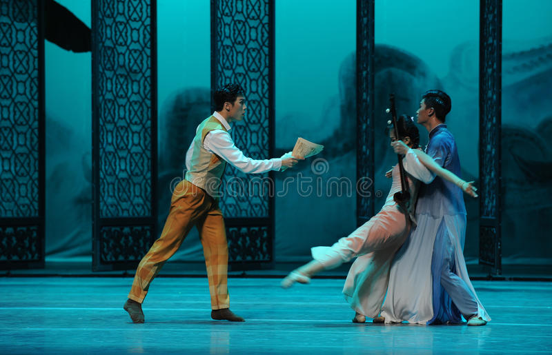 Quarrel between brothers-The second act of dance drama-Shawan events of the past. Guangdong Shawan Town is the hometown of ballet music, the past focuses on the royalty free stock image