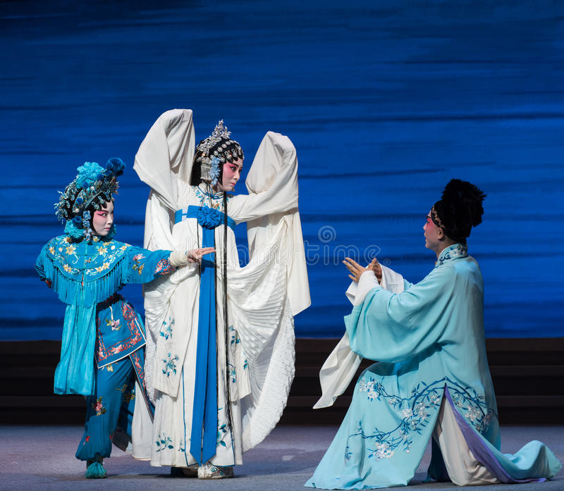 """Quarrel with each other and become enemies-The seventh act Disintegration of families-Kunqu Opera""""Madame White Snake"""". Legend of the White Snake is royalty free stock photos"""