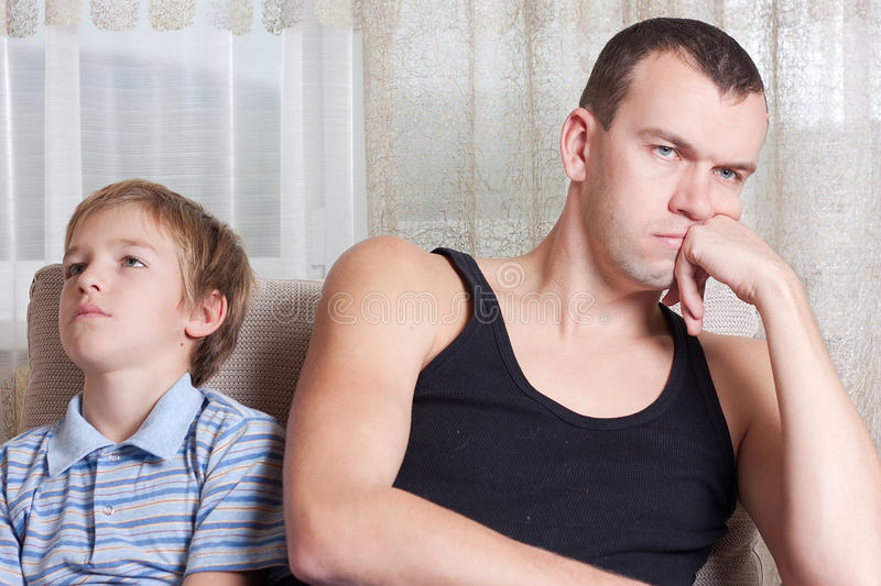 Download Quarrel of father and son stock image. Image of expression - 16437481