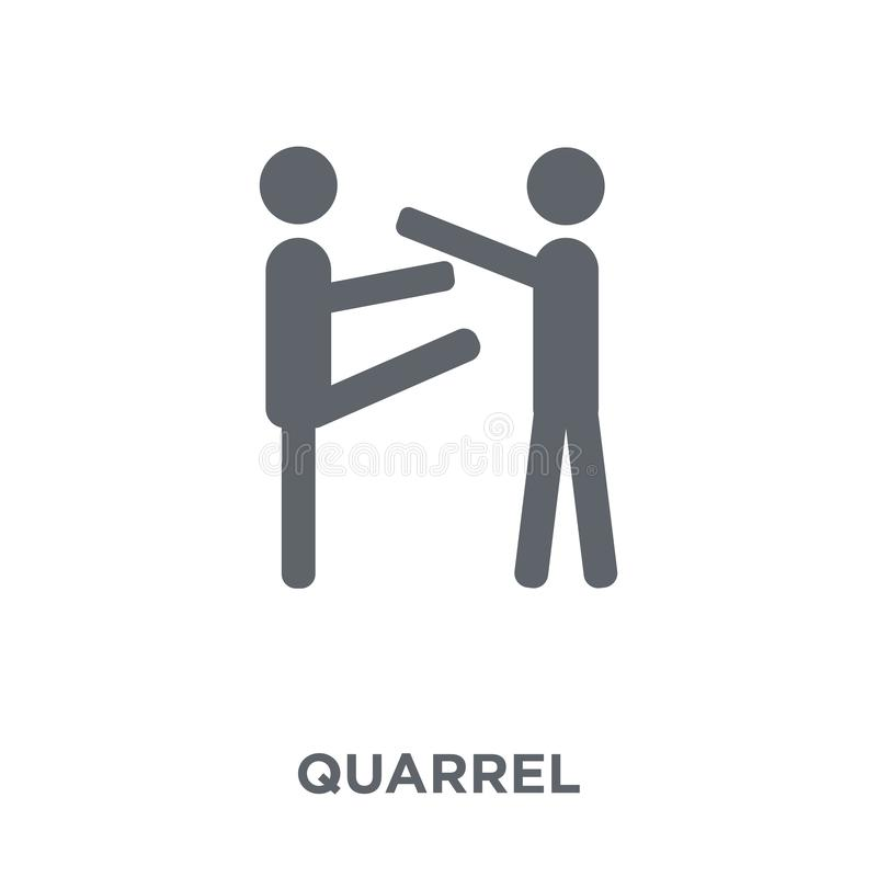 Quarrel icon from Communication collection. stock illustration