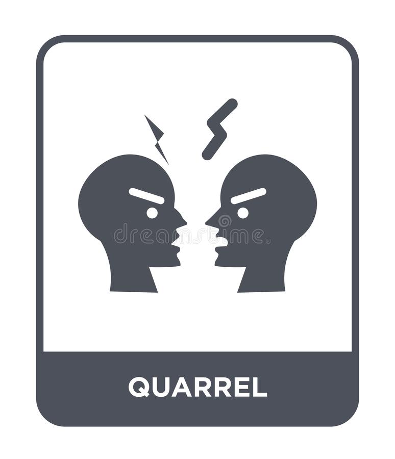Quarrel icon in trendy design style. quarrel icon isolated on white background. quarrel vector icon simple and modern flat symbol. For web site, mobile, logo royalty free illustration