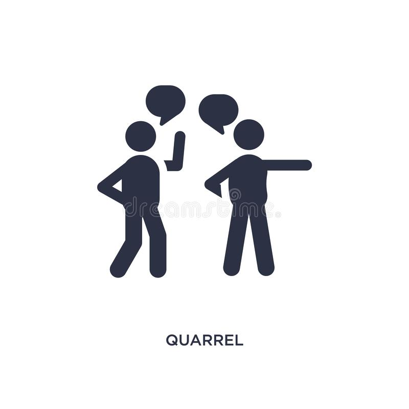 quarrel icon on white background. Simple element illustration from communication concept stock illustration