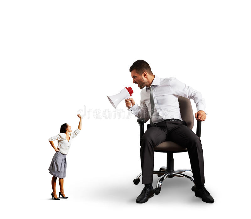 Download Quarrel Between Man And Woman Over White Stock Photo - Image: 38543480