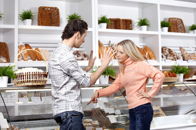 Download Quarrel in shop stock image. Image of choice, human, conflict - 13233665