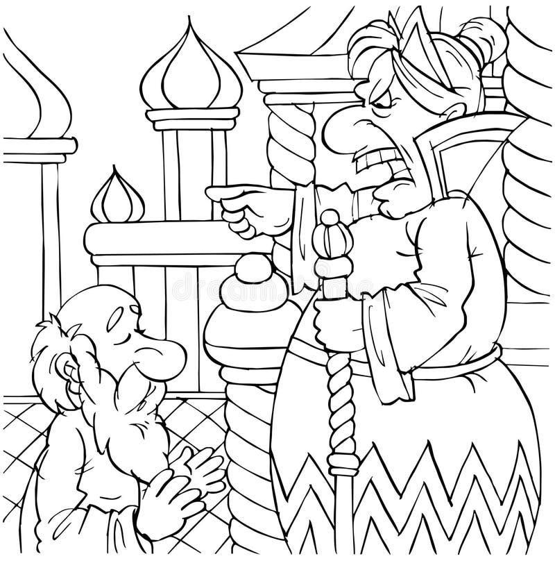 Download Quarrelsome old woman stock illustration. Image of folk - 14555755