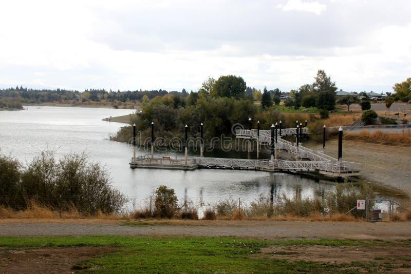 Quarry湖,佛瑞蒙,加利福尼亚消遣地区  库存图片