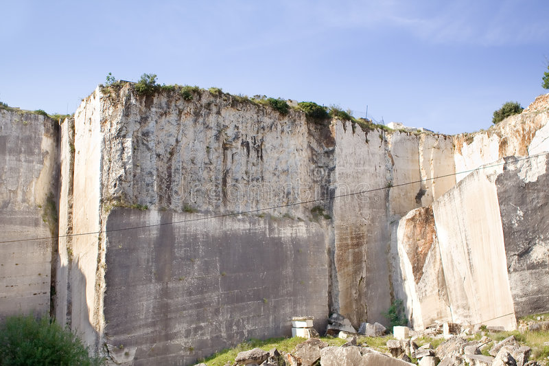 Quarry. Old abandoned stone quarry - heavy industry stock images
