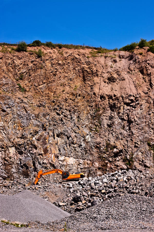 Download A quarry with an backhoe stock photo. Image of destroying - 25861994