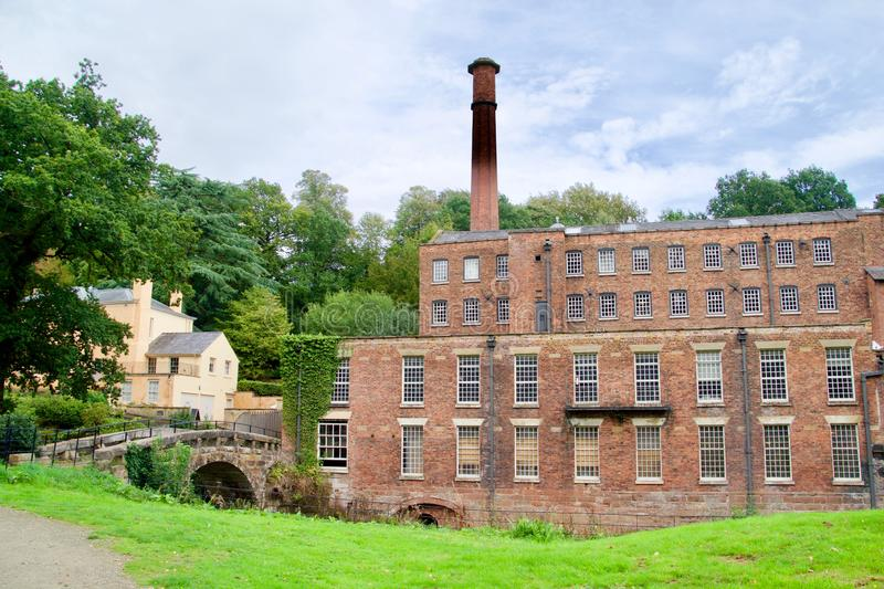 Bridge building and countryside. Quarry bank mill wilmslow Cheshire England united kingdom stock photography