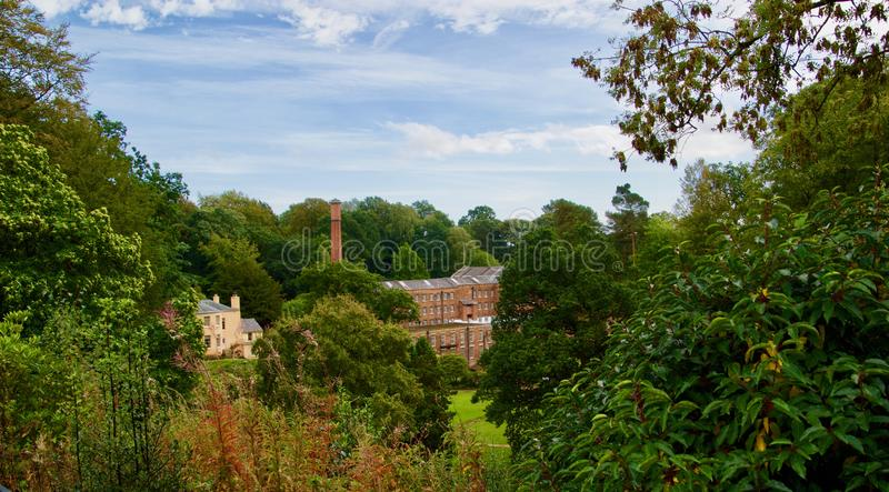Late summer colours of the mill. Quarry bank mill wilmslow Cheshire England united kingdom stock images