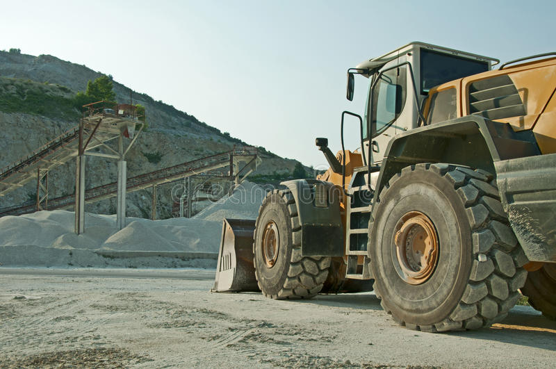 Quarry and Bulldozer royalty free stock photography