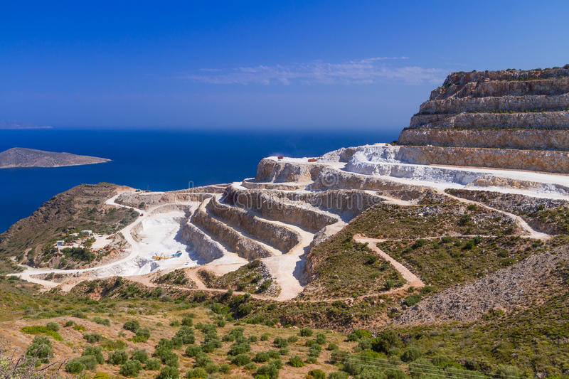 Quarry On The Coast Of Crete Royalty Free Stock Image