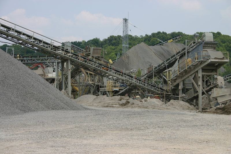 Quarry conveyors stock photo