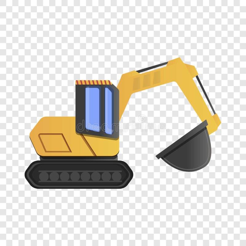 Quarry excavator icon, cartoon style. Quarry excavator icon. Cartoon of quarry excavator vector icon for web design vector illustration