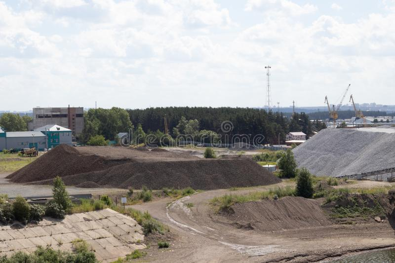quarry with gravel and gravel royalty free stock photo