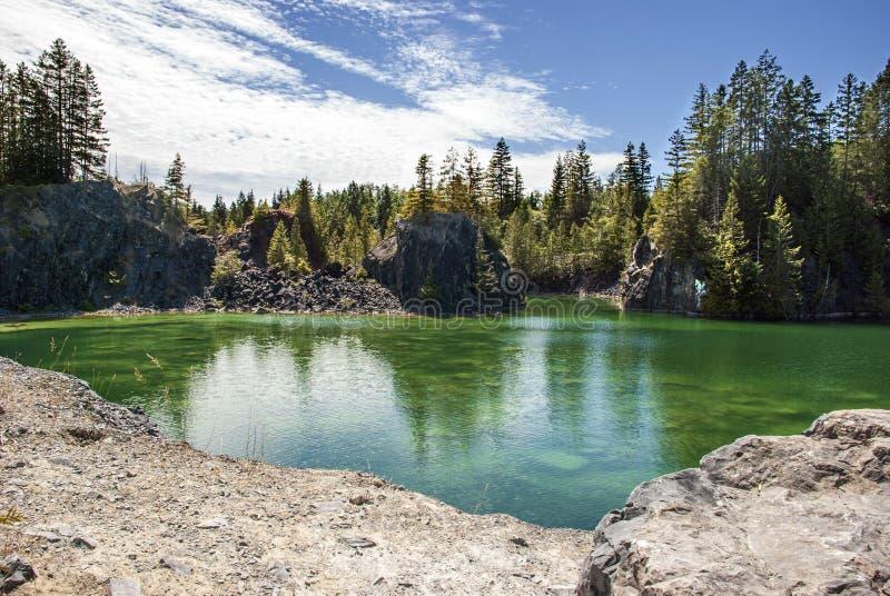 Quarry Lake Texada Island stock images