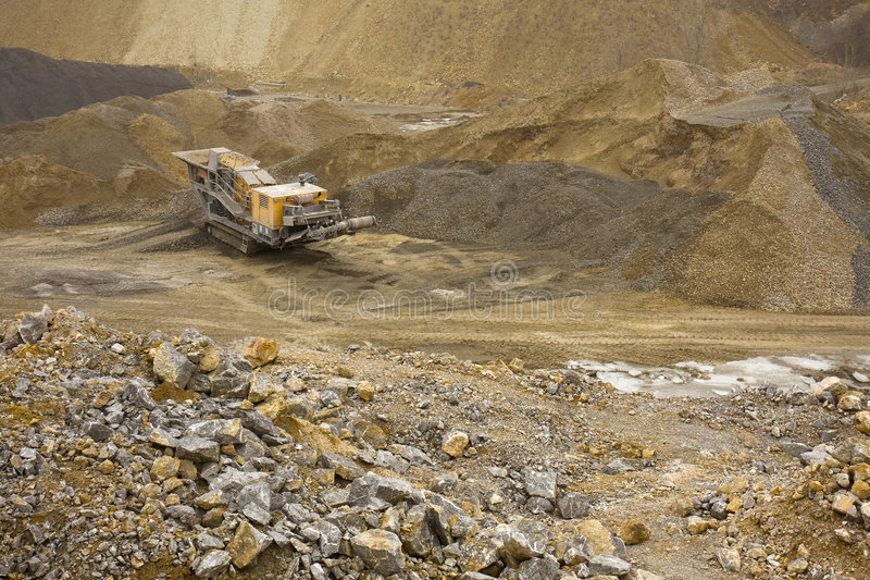 Quarry machinery royalty free stock photo