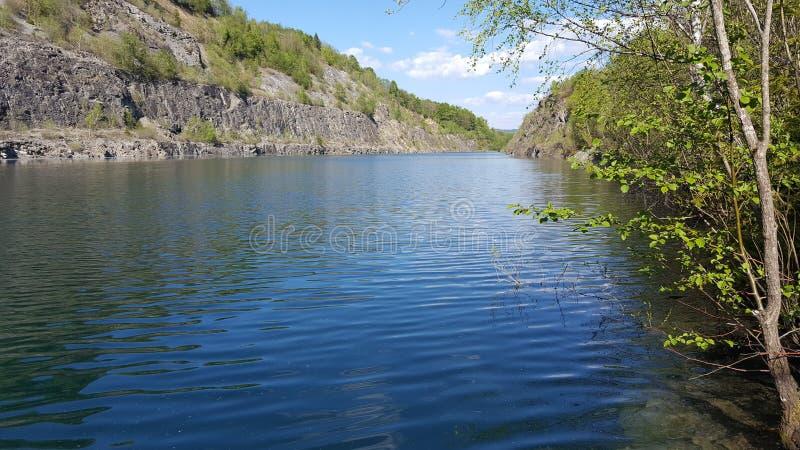 Quarry pond stock photos