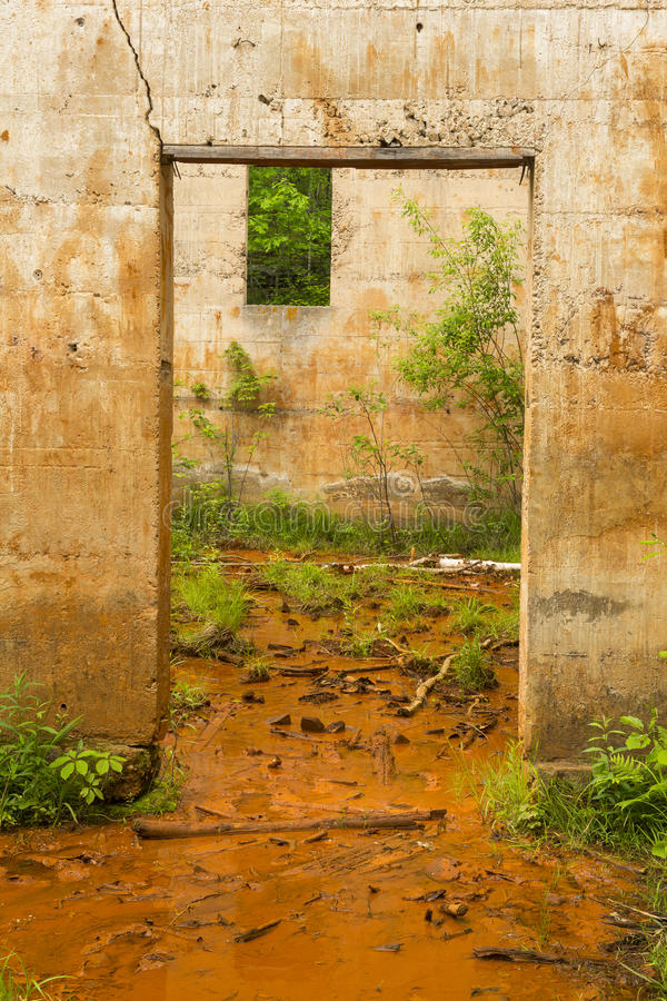 Quarry Power House Remains royalty free stock photos